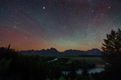 The Night Sky over the Grand Teton National Park and the Snake River-Babak Tafreshi-Photographic Print