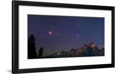 The Night Sky over the Grand Teton National Park in Wyoming, USA. Head of Constellation Scorpius-Babak Tafreshi-Framed Photographic Print