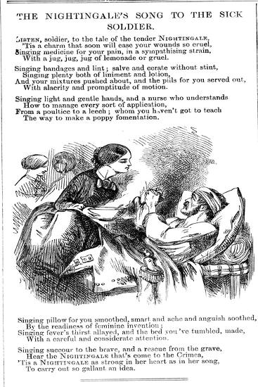 The Nightingale's Song to To the Sick Soldier, 1854--Giclee Print