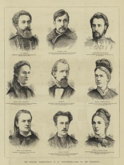The Nihilist Prosecutions at St Petersburg, Some of the Prisoners--Giclee Print
