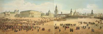 The Nikolaievsky Palace and St. Basil's Cathedral Viewed from the Kremlin-Dmitri Indieitzeff-Giclee Print