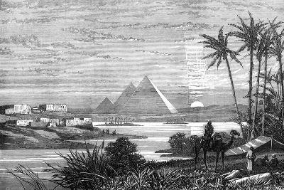 The Nile and the Pyramids from the Boulak Road, 1874--Giclee Print