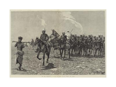 The Nile Expedition, a Column of Troops Starting across the Desert-Richard Caton Woodville II-Giclee Print
