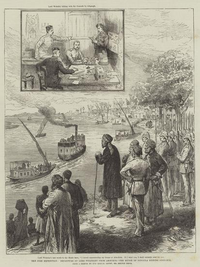 The Nile Expedition, Departure of Lord Wolseley from Ambukol, the Mudir of Dongola Bidding Good-Bye-Melton Prior-Giclee Print