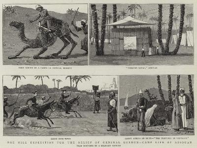 The Nile Expedition for the Relief of General Gordon, Camp Life at Assouan--Giclee Print