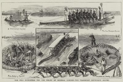 The Nile Expedition for the Relief of General Gordon, the Transport Difficulty Solved-William Ralston-Giclee Print