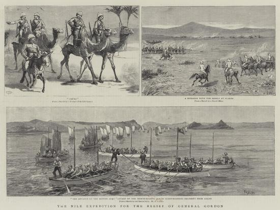 The Nile Expedition for the Relief of General Gordon-Charles Edwin Fripp-Giclee Print