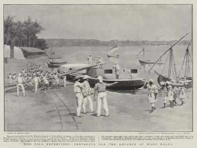 The Nile Expedition, Preparing for the Advance at Wady Halfa--Giclee Print