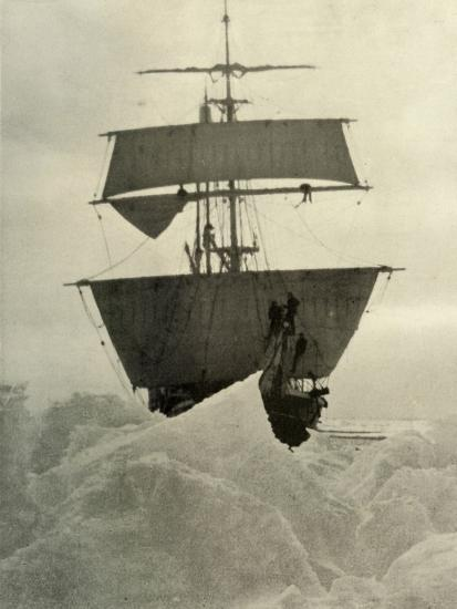 'The Nimrod Held Up in the Ice', 1908, (1909)-Unknown-Photographic Print