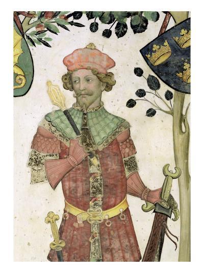 The Nine Worthies and the Nine Worthy Women, Detail of Judas Maccabeus, 1418-30-Giacomo Jaquerio-Giclee Print