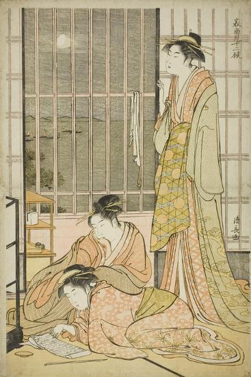 The Ninth Month, from the Series Twelve Months in the South (Minami Juni Ko), C.1784-Torii Kiyonaga-Giclee Print