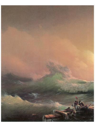 The Ninth Wave (left detail)-Iwan Konstantinowitsch Aiwasowskij-Premium Giclee Print