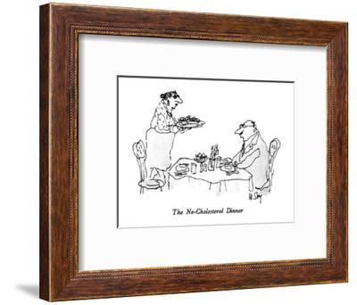 The No-Cholesterol Dinner - New Yorker Cartoon-William Steig-Framed Premium Giclee Print