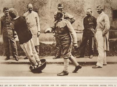 The Noble Art of Self Defence, Austrian Officers Practising Boxing--Photographic Print
