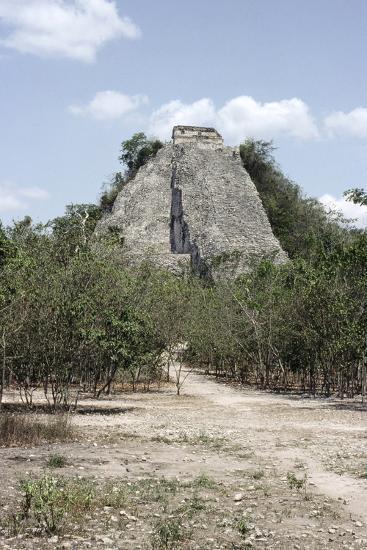 The 'Nohoch Mul' pyramid at Coba, Yucatan, Mexico, Maya, 6th-9th century-Werner Forman-Photographic Print