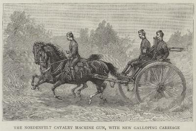 The Nordenfelt Cavalry Machine Gun, with New Galloping Carriage--Giclee Print