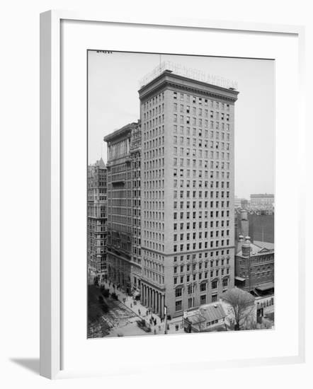 The North American and Real Estate Trust Buildings, Philadelphia, Pennsylvania, C.1897-1910--Framed Photographic Print