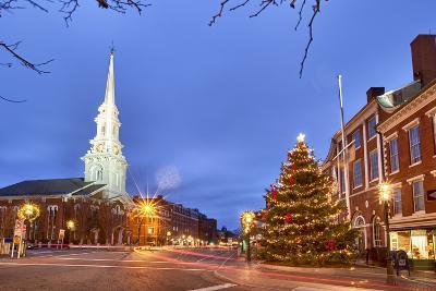 The North Church and Market Square, Portsmouth, New Hampshire-Jerry & Marcy Monkman-Photographic Print