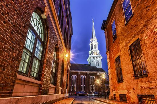 The North Church as Seen from Market Square, Portsmouth, New Hampshire-Jerry & Marcy Monkman-Photographic Print