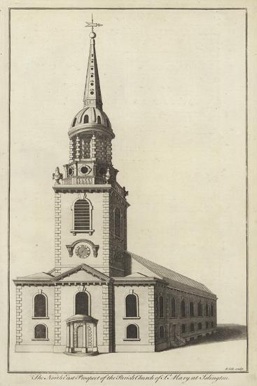 The North East Prospect of the Parish Church of St Mary at Islington--Giclee Print