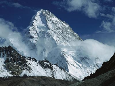 The North Face of K2 from K2 Glacier, 2nd Highest Peak in the World, Karakoram, Xinjiang, China-Colin Monteath/Minden Pictures-Photographic Print