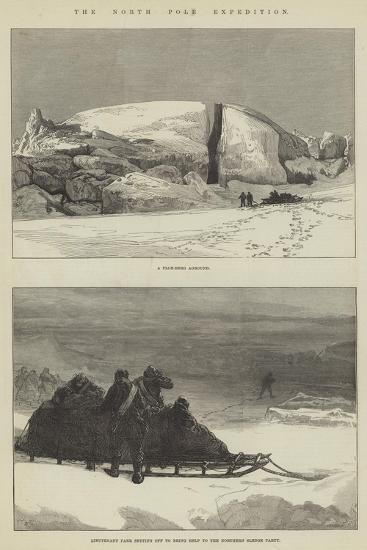 The North Pole Expedition-Charles Robinson-Giclee Print