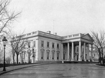 The North Portico of the White House, Washington D.C., USA, 1908--Giclee Print