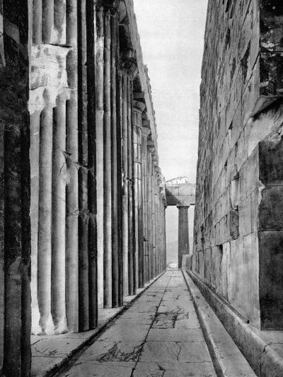 The North Side of the Parthenon, Athens, 1937-Martin Hurlimann-Giclee Print