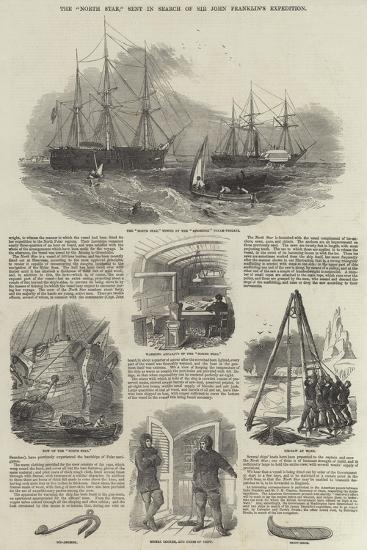 The North Star, Sent in Search of Sir John Franklin's Expedition--Giclee Print