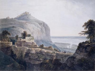 The North West View of Rohtasgarh, Bihar-Thomas & William Daniell-Giclee Print