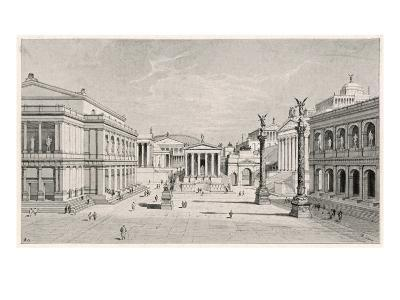 The Northern and Eastern Sides of the Roman Forum--Giclee Print