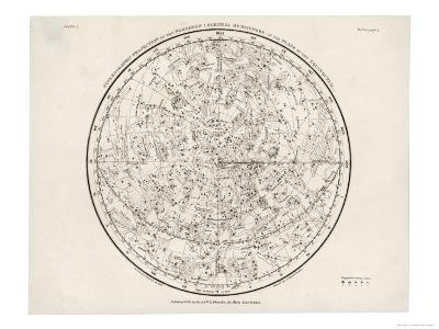 The Northern Hemisphere Including the Signs of the Zodiac--Giclee Print