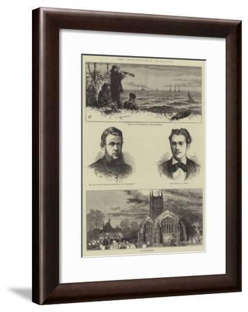 The Northfleet Disaster-Joseph Nash-Framed Giclee Print
