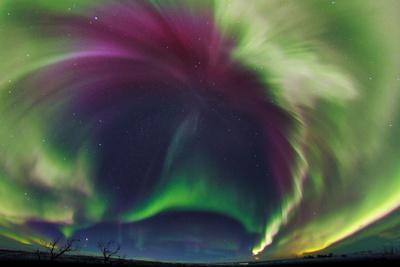 The Northrn Lights. Panoramic Projection of a Colorful Strong Aurora Outburst-Babak Tafreshi-Photographic Print