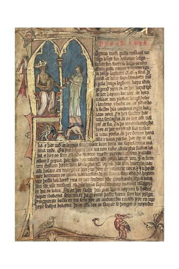 The Norwegian Laws of King Magnus VI--Giclee Print