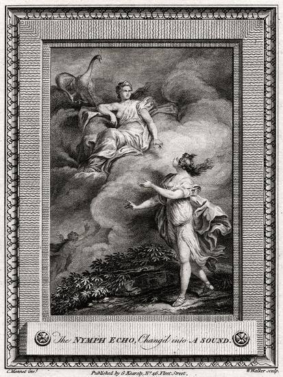 The Nymph Echo, Chang'D into a Sound, 1774-W Walker-Giclee Print
