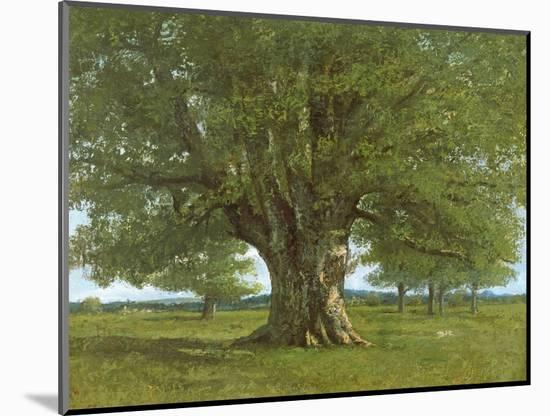 The Oak of Flagey, Called Vercingetorix-Gustave Courbet-Mounted Premium Giclee Print