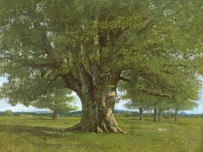 The Oak of Flagey, Called Vercingetorix-Gustave Courbet-Giclee Print