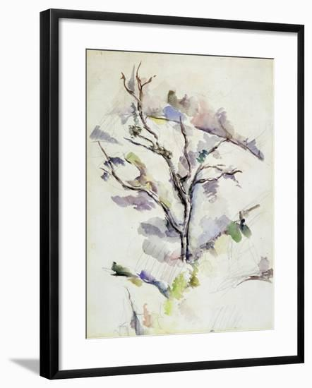 The Oak-Paul Cézanne-Framed Giclee Print
