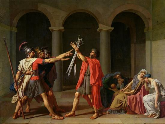 The Oath of Horatii, 1784-Jacques-Louis David-Giclee Print