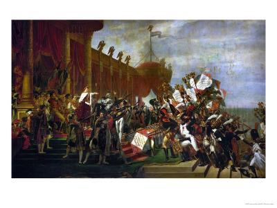 The Oath of the Army after the Distribution of the Eagles on the Champs De Mars-Jacques-Louis David-Giclee Print