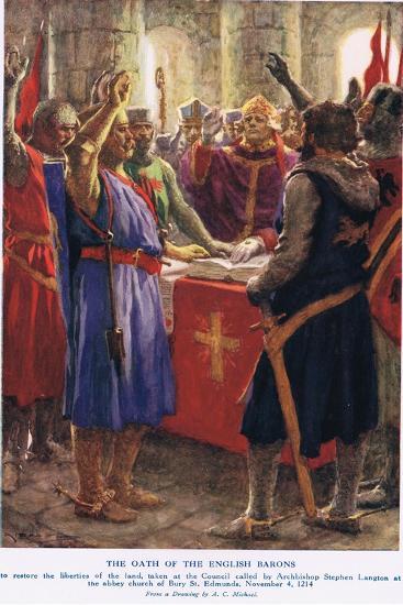 The Oath of the English Barons-Arthur Claude Strachan-Giclee Print