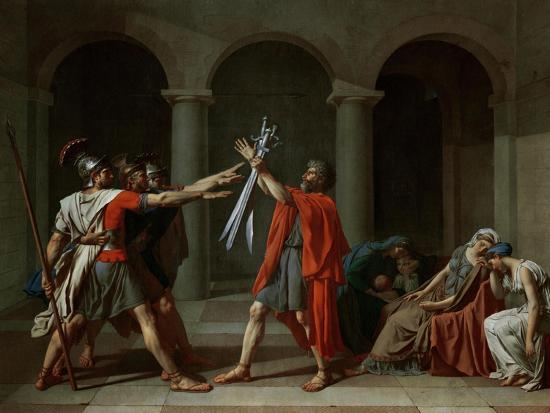 The Oath of the Horatii-Jacques-Louis David-Giclee Print