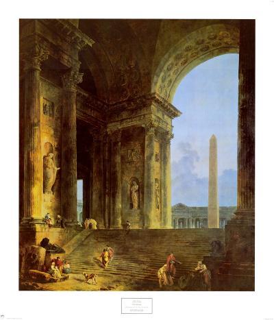 The Obelisk, 1787-Hubert Robert-Art Print