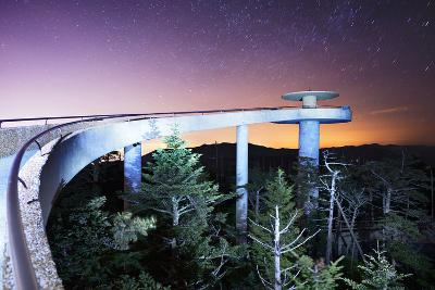 The Observation Deck of Clingman's Dome in the Great Smoky Mountains.-SeanPavonePhoto-Photographic Print