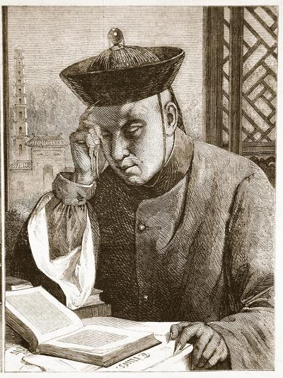 The Occidentalist, Illustration from 'The Illustrated London News', 1861 (Litho)-Theodore Delamarre-Giclee Print