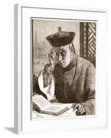 The Occidentalist, Illustration from 'The Illustrated London News', 1861 (Litho)-Theodore Delamarre-Framed Giclee Print