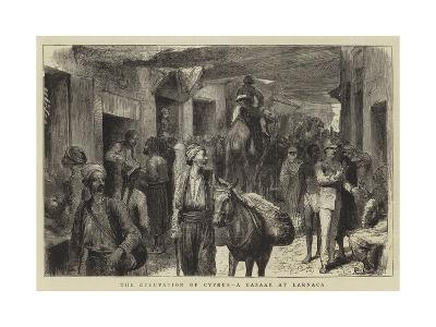 The Occupation of Cyprus, a Bazaar at Larnaca-Godefroy Durand-Giclee Print