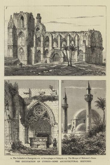 The Occupation of Cyprus, Some Architectural Sketches-Henry William Brewer-Giclee Print