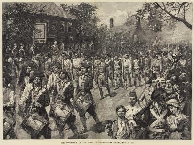 The Occupation of New York by the American Troops, 25 November 1783--Giclee Print